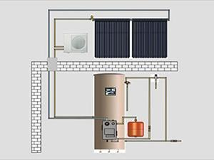 Split Solar Water Heating System HFT-200L/HFT-300L